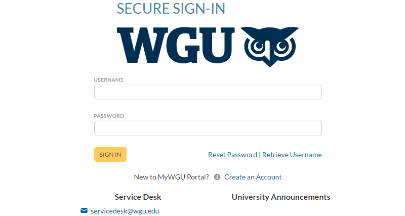 WGU-Student-Portal-Login