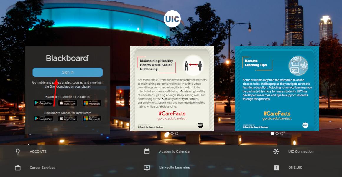 UIC Blackboard login