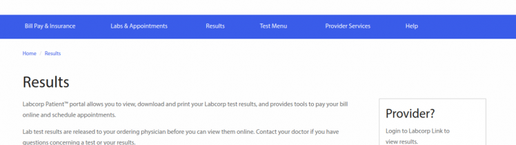 Labcorp Results Login