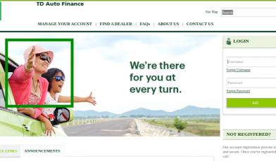 TD Auto Finance Login