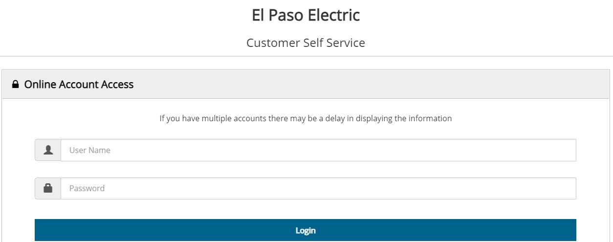El Paso Electric Bill Pay