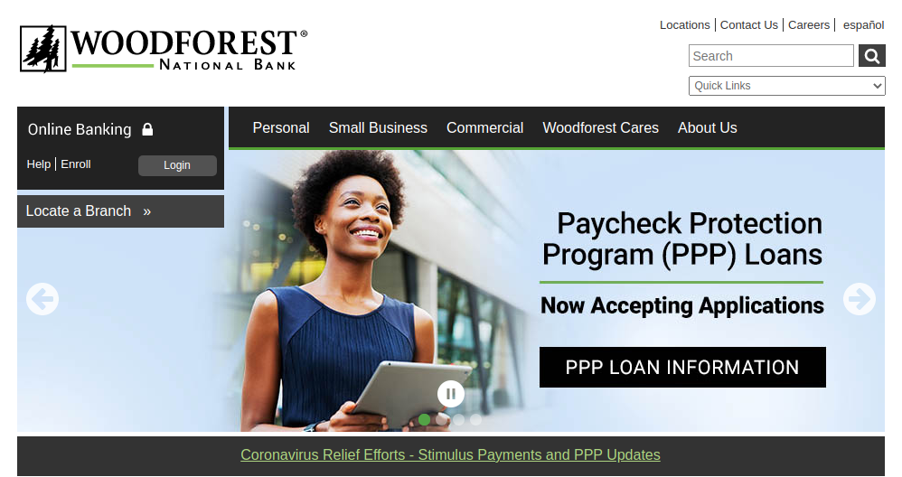 Woodforest National Bank login