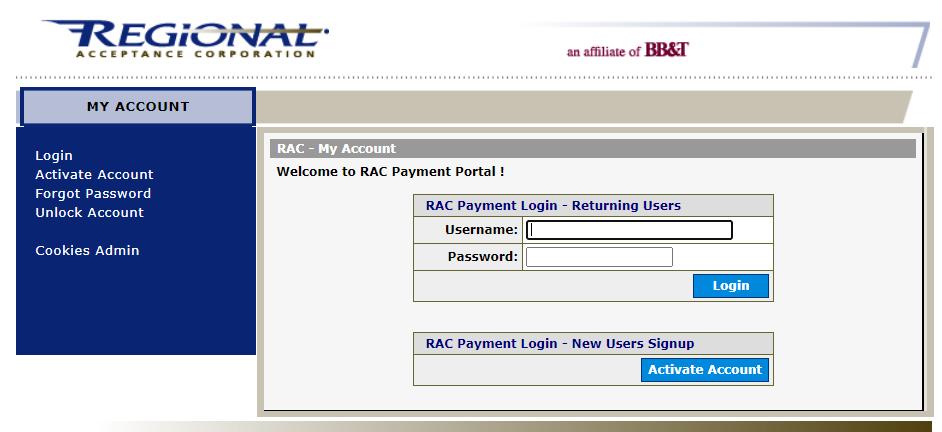 Regional Acceptance Payment