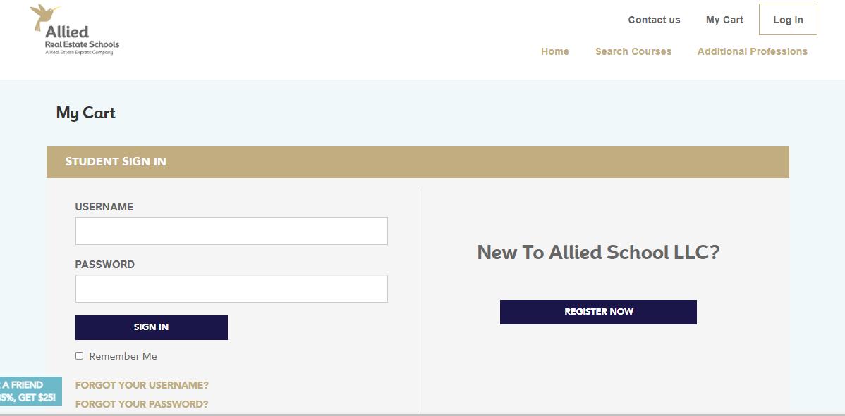 allied schools login