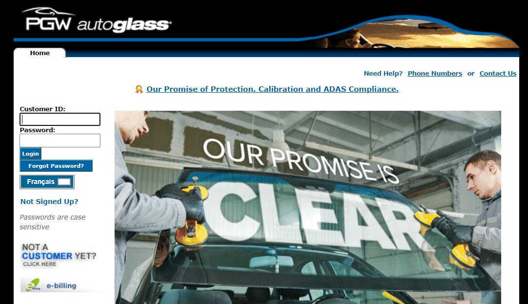 PGW Auto Glass login