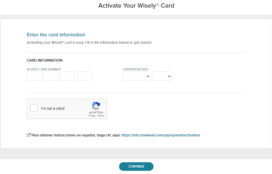 Wisely Card Activate