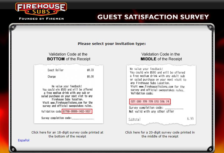 Firehouse Subs Guest Survey