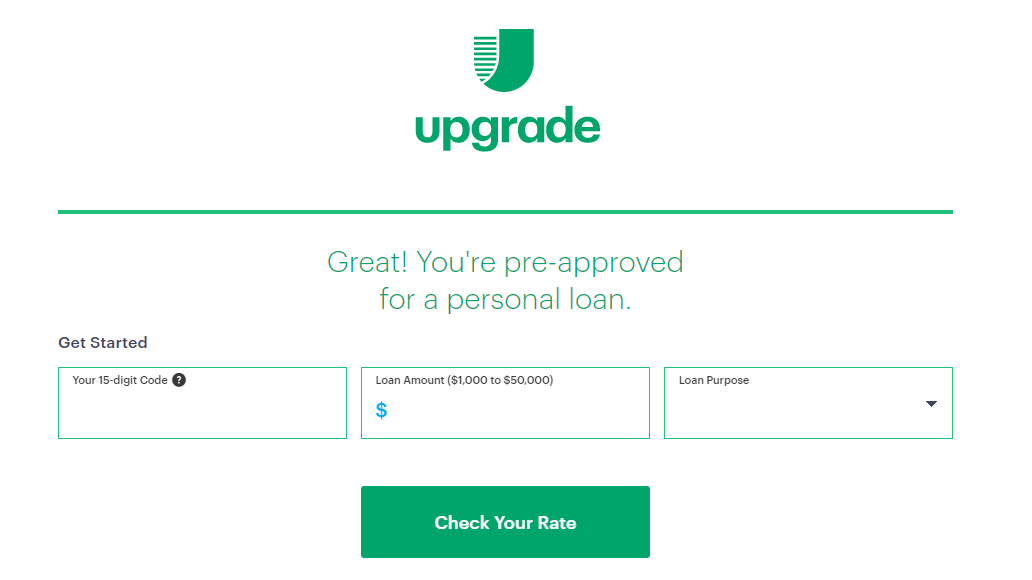 Upgrade Personal Loans Apply