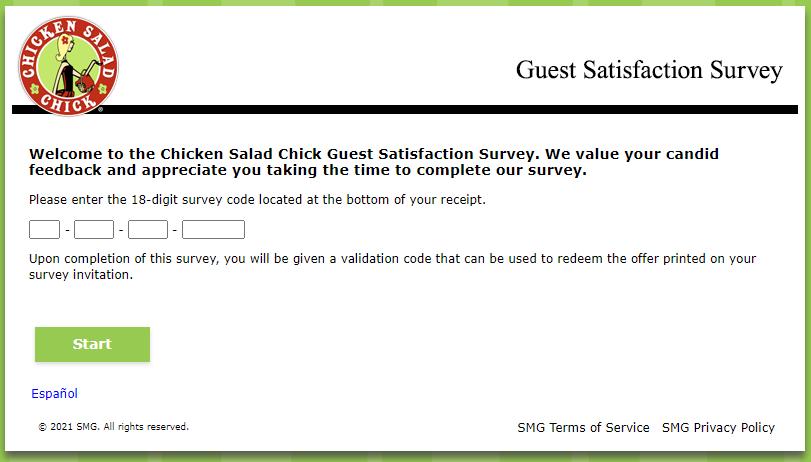chicken salad chick survey