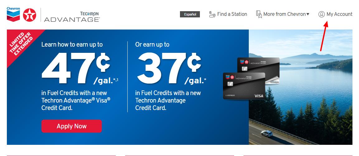 chevron credit card login